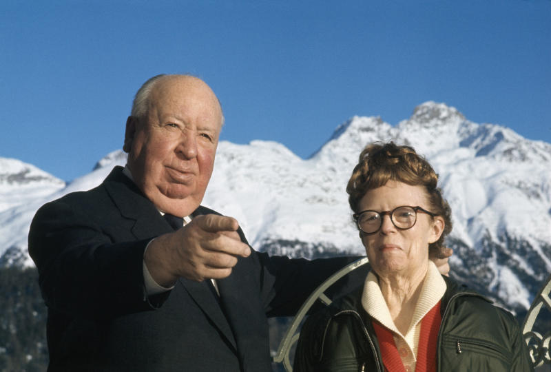 Alfred Hitchcock and His Wife Alma (Photo by James Andanson/Sygma via Getty Images)