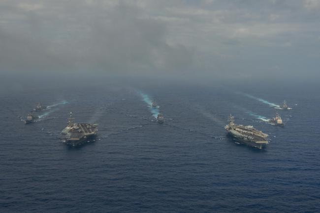 Two carriers in South China Sea