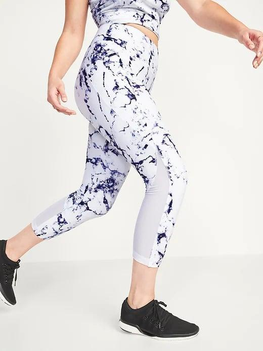 <p>If you're lucky enough to find your size still in stock, now's the time to save 50 percent on these <span>Old Navy High-Waisted PowerSoft Run Crop Leggings in Illusion Marbled</span> ($40).</p>