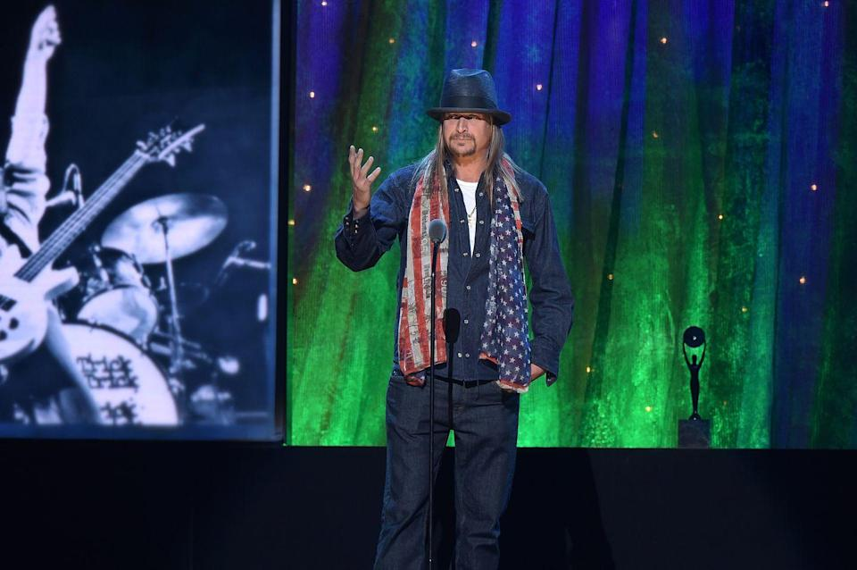 """<p>When a convincing website """"Kid Rock for Senate"""" started selling campaign merch in 2017, the public thought the entertainer would run for a Senate bid in Michigan. However, once Rock came clean about his true intentions, the publicity stunt made a bit more sense. """"F‑‑‑ no, I'm not running for Senate. Are you kidding me?"""" Rock said while on Howard Stern's SiriusXM show (according to <a href=""""https://www.usatoday.com/story/life/music/2017/10/24/kid-rock-no-im-not-running-for-u-s-senate/793708001/"""" rel=""""nofollow noopener"""" target=""""_blank"""" data-ylk=""""slk:USA Today"""" class=""""link rapid-noclick-resp"""">USA Today</a>). """"Who couldn't figure that out? I'm releasing a new album. I'm going on tour, too.""""</p>"""