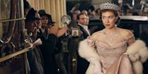 """<p>""""There were particular designers who were quite closely associated with the Queen, but with Margaret I know she wore Dior and so there was always a bit of a flare and her wardrobe was a bit more daring,"""" costume designer Michele Clapton <a href=""""https://www.harpersbazaar.com.au/fashion/the-crown-costumes-facts-15071"""" rel=""""nofollow noopener"""" target=""""_blank"""" data-ylk=""""slk:said"""" class=""""link rapid-noclick-resp"""">said</a>. """"I knew she was inspired by Paris so I looked at the shapes from there and throughout the process we saw some really beautiful pieces. I think I copied one outfit and then tried to do an interpretation of the others.""""</p>"""