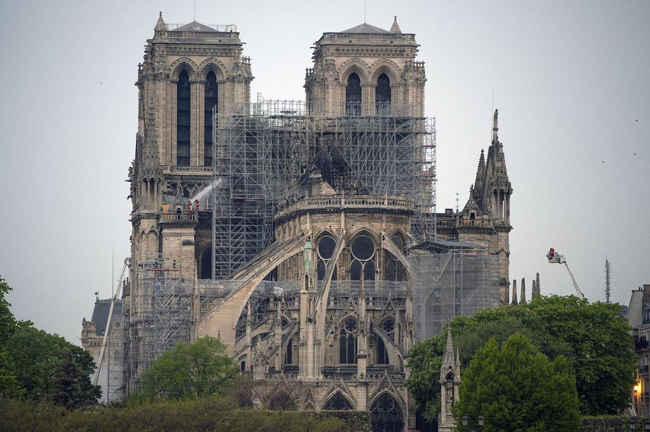 The Notre Dame Cathedral after the fire