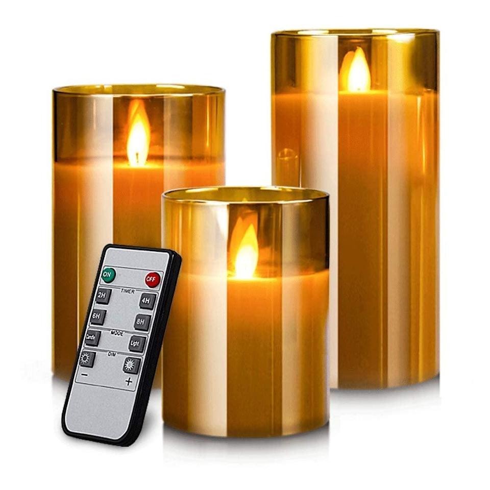 <p>Add these <span>Yinuo Mirror LED Flameless Candles</span> ($25) to your dining table.</p>