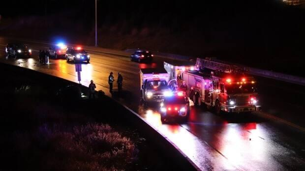 Multiple emergency crews were called to the scene of a serious crash in Surrey on Jan. 7, 2020.