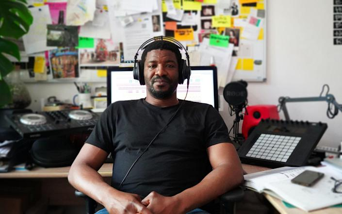 Nigerian-born artist Emeka Ogboh who has created a Brexit inspired art installation which plays Auld Lang Syne in 28 languages - PA