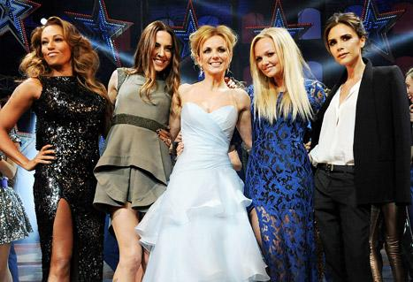 The Spice Girls Reunite for the Opening of Their Musical