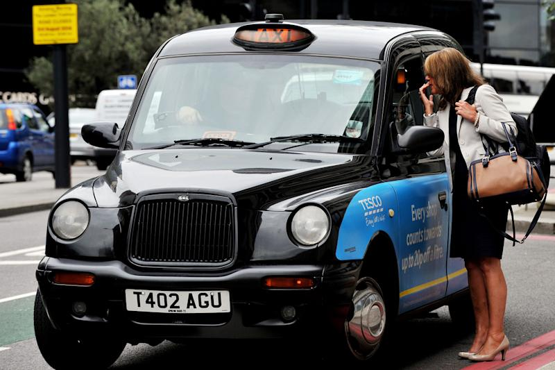 Black cabs are criticised as contributing to London's air pollution: PA