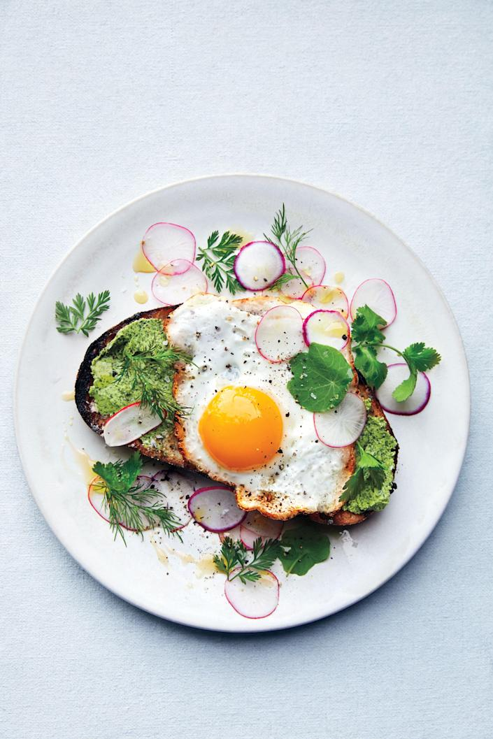 """<a href=""""https://www.bonappetit.com/recipe/fried-egg-on-toast-with-salted-herb-butter-and-radishes?mbid=synd_yahoo_rss"""" rel=""""nofollow noopener"""" target=""""_blank"""" data-ylk=""""slk:See recipe."""" class=""""link rapid-noclick-resp"""">See recipe.</a>"""