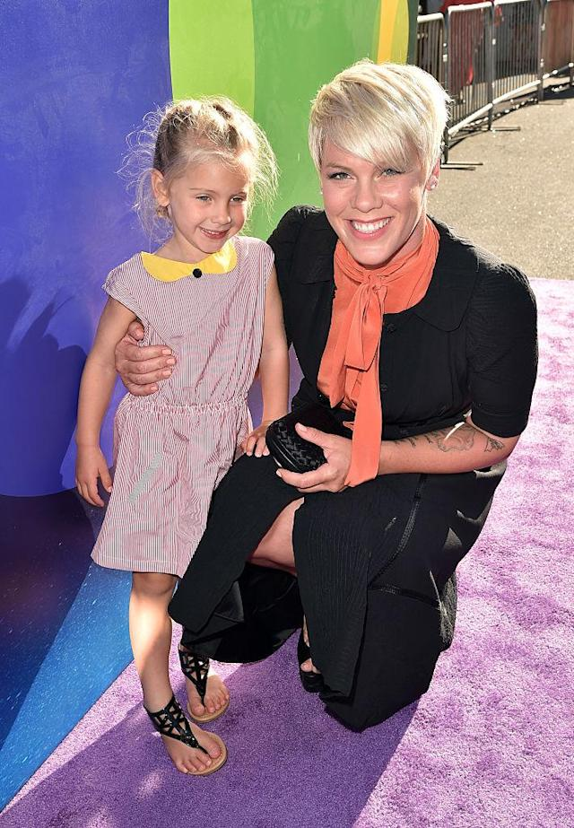 <p>Willow looks so young in a photo of her and her mom at the Hollywood premiere of <i>Inside Out</i>! The lucky little girl even had a chance to pose with costumed characters from the family-friendly movie. (Photo: Kevin Winter/Getty Images) </p>