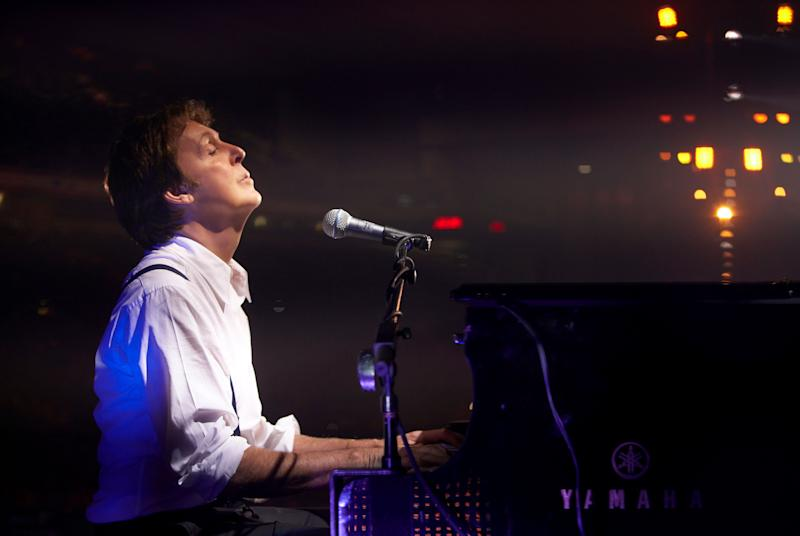 Paul McCartney performs during the Liverpool Sound concert, held at Anfield Stadium on June 1, 2008 in Liverpool, England.