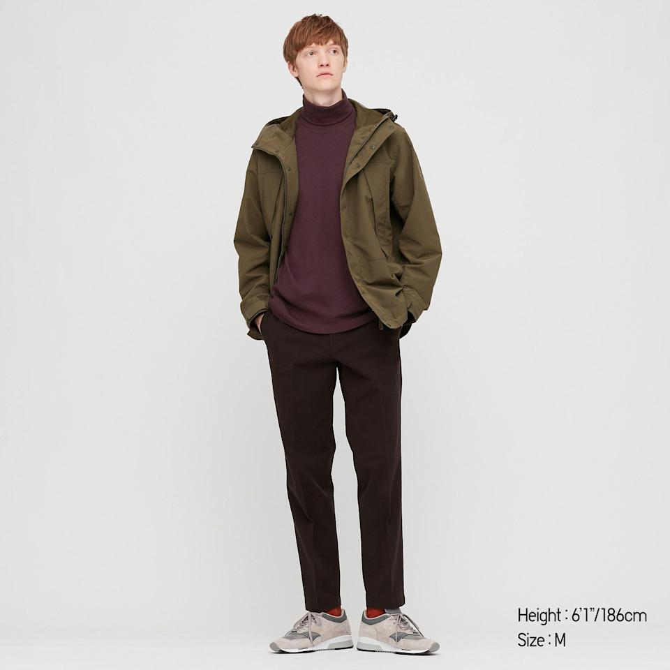 "<p>uniqlo.com</p><p><strong>$19.90</strong></p><p><a href=""https://go.redirectingat.com?id=74968X1596630&url=https%3A%2F%2Fwww.uniqlo.com%2Fus%2Fen%2Fmen-soft-touch-turtleneck-long-sleeve-t-shirt-419499COL39SMA004000.html&sref=https%3A%2F%2Fwww.esquire.com%2Fstyle%2Fmens-fashion%2Fg34589577%2Fbest-mens-hiking-outfits-clothes%2F"" rel=""nofollow noopener"" target=""_blank"" data-ylk=""slk:Shop Now"" class=""link rapid-noclick-resp"">Shop Now</a></p>"