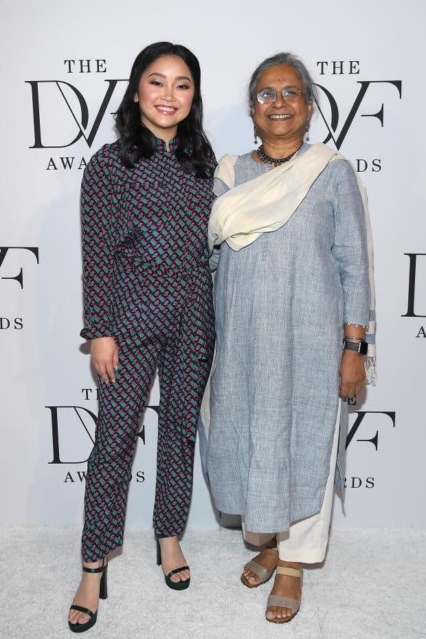 Condor, in Diane von Furtenberg, and Priti Patkar at the 2020 DVF Awards at the Library of Congress in February 2020.
