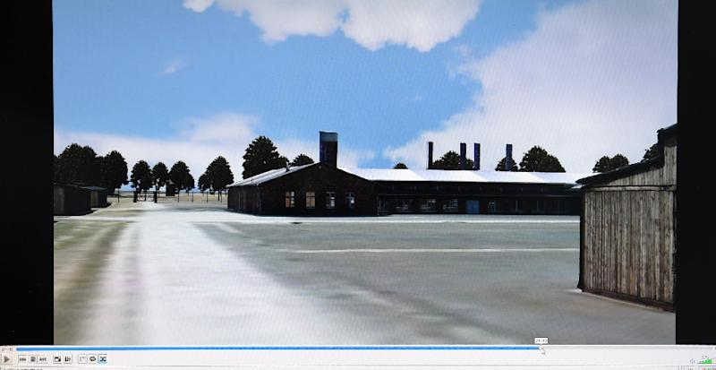 Screenshot from a 3D model animation of the former Nazi concentration camp Auschwitz (AFP Photo/Christof Stache)