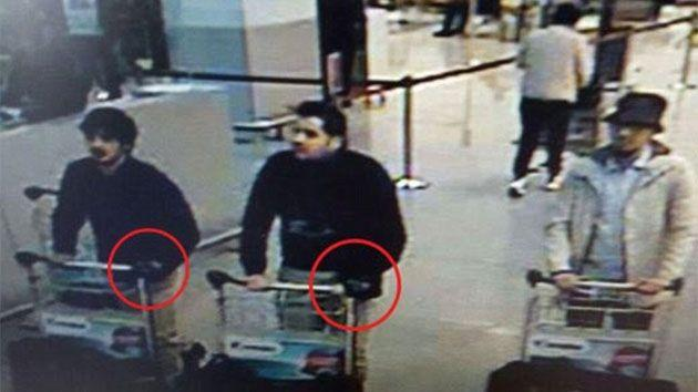Just moments before Brussels airport bomber Ibrahim El Bakraoui (centre) detonated a deadly explosive package, he dumped a major clue into a nearby bin. Photo: Getty Images