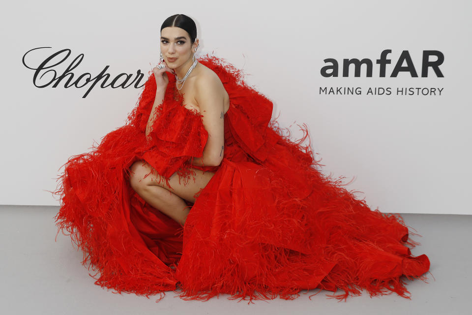 Dua Lipa at the amfAR Cannes Gala 2019 at Hotel du Cap-Eden-Roc on May 23, 2019 in Cap d'Antibes, France. (Photo by: P. Lehman) (Photo credit should read P. Lehman / Barcroft Media via Getty Images)