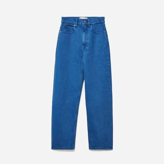 """The higher the waist, the better. $88, Everlane. <a href=""""https://www.everlane.com/products/womens-way-high-jean-folsom-teal?collection=womens-sale"""" rel=""""nofollow noopener"""" target=""""_blank"""" data-ylk=""""slk:Get it now!"""" class=""""link rapid-noclick-resp"""">Get it now!</a>"""
