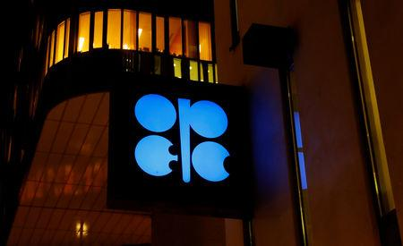 FILE PHOTO: The logo of the Organisation of the Petroleum Exporting Countries (OPEC) is seen at OPEC's headquarters in Vienna, Austria December 5, 2018.   REUTERS/Leonhard Foeger