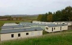 Pictures from AS Green and Co's website of the farm in Mathon near Malvern on the Herefordshire-Worcestershire border. It's unclear when the photo was taken, but staff living in mobile homes during harvesting season have been asked to isolate - AS Green and Co
