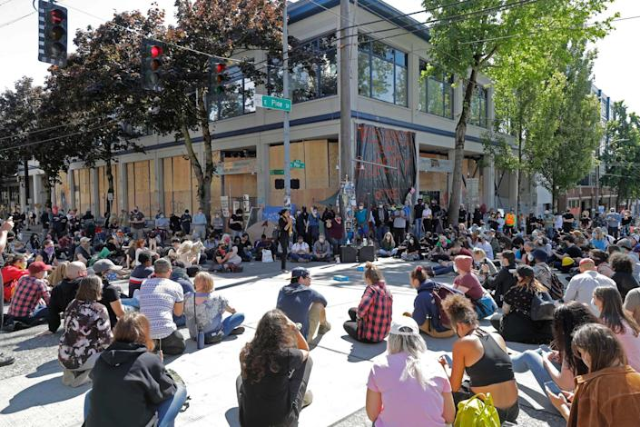 Protester have occupied the area around a Seattle police station deeming it Capitol Hill Autonomous Zone: AP