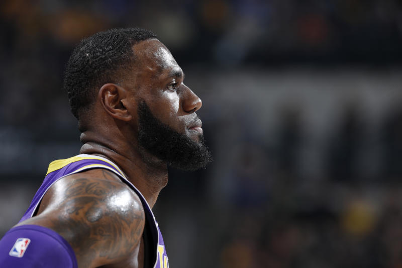 2d80d6556 LeBron James shuts down notion of slowing down in 2nd half  Intensity level   has been activated