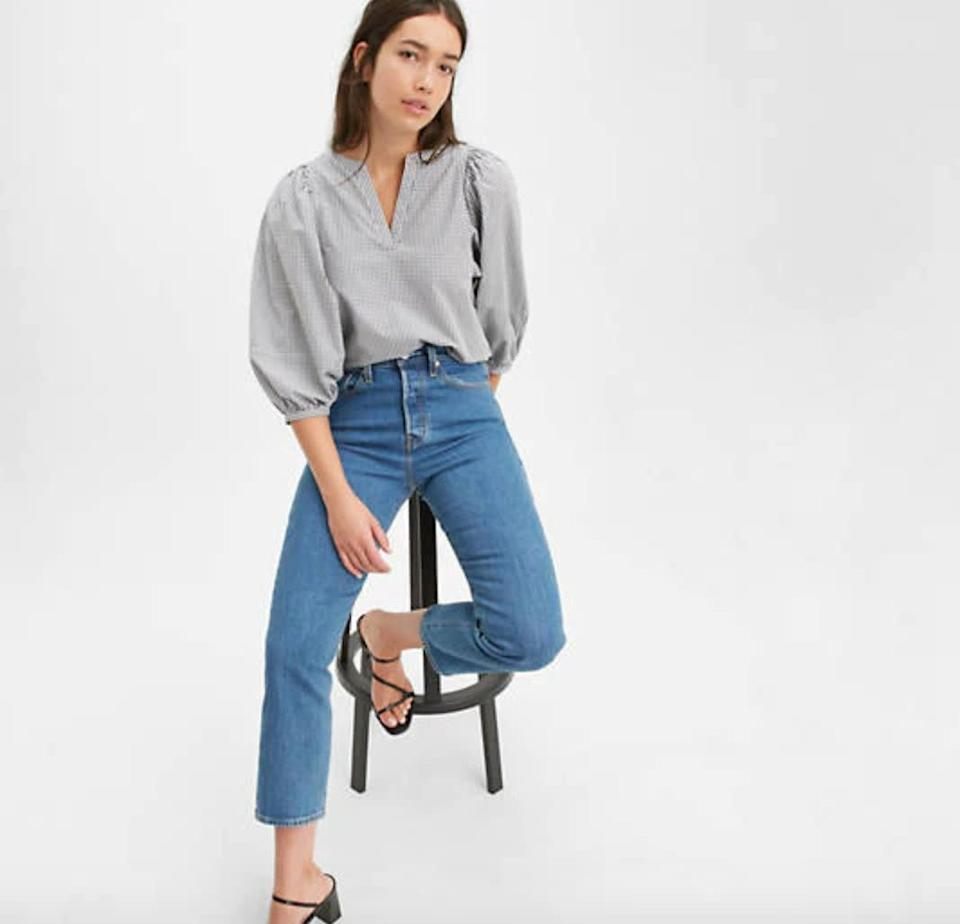 """In April, the <a href=""""https://fave.co/2XBbpuS"""" rel=""""nofollow noopener"""" target=""""_blank"""" data-ylk=""""slk:jean company"""" class=""""link rapid-noclick-resp"""">jean company</a> promised $3 million to support communities that have been affected by the coronavirus crisis around the world. Levi's donated to organizations like <a href=""""https://caasf.org/"""" rel=""""nofollow noopener"""" target=""""_blank"""" data-ylk=""""slk:Chinese for Affirmative Action"""" class=""""link rapid-noclick-resp"""">Chinese for Affirmative Action</a>, which has been fighting against racism towards the Asian community, and <a href=""""https://tippingpoint.org/"""" rel=""""nofollow noopener"""" target=""""_blank"""" data-ylk=""""slk:Tipping Point"""" class=""""link rapid-noclick-resp"""">Tipping Point</a>, which focuses on fighting poverty in the Bay Area in California. <br><br><a href=""""https://fave.co/2XzZj5k"""" rel=""""nofollow noopener"""" target=""""_blank"""" data-ylk=""""slk:Check out these jeans for $98 at Levi's"""" class=""""link rapid-noclick-resp"""">Check out these jeans for $98 at Levi's</a>."""