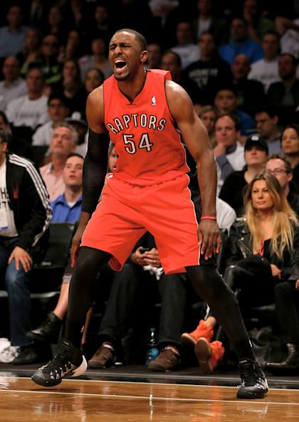 Patrick Patterson will keep shooting in Toronto for the next three years. (Elsa/Getty Images)