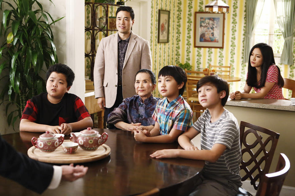"""<p><b>This Season's Theme:</b> The premiere takes the Huangs to Taiwan, where the family members grapple with where they belong. The episode """"mirrors what we did in the pilot,"""" explains showrunner Nahnatchka Khan. It'll be an eye-opening experience for all of the Huangs, as they deal with """"being Asian American and not quite fitting in either place.""""<br><br><b>Where We Left Off: </b> Louis's (Randall Park) brother Gene (guest star Ken Jeong) visited to announce his upcoming marriage, but after the brothers argued, Gene abruptly returned to Taiwan. To mend fences, Louis and Jessica (Constance Wu) packed up the kids to follow him. <br><br><b>Coming Up: </b> Election fever comes to the comedy in the form of the 1996 presidential race. """"It was Clinton vs. Dole, so we're drawing a lot of parallels in terms of what's important to voters,"""" says Khan. """"For our family the immigration issue is going to come up – again the idea of where do you fit in?"""" <br><br><b>Growing Pains: </b> Not only will Eddie (Hudson Yang) have to deal with attending the same school as little brother Emery (Forrest Wheeler), he's hitting puberty. """"In the Halloween episode, Eddie and his friends get invited to their first high school party,"""" Khan teases. """"When you're in middle school still, half the kids still want to go trick or treating and half of them want to go where the girls are. Not everybody grows up at the same time."""" <i>– KW</i> <br><br>(Credit: Nicole Wilder/ABC)</p>"""