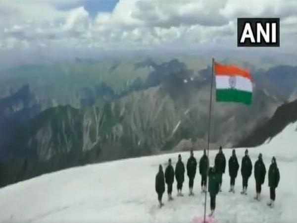 Indian Army celebrated Independence day in Gurez Sector on Saturday. (Photo/ANI)