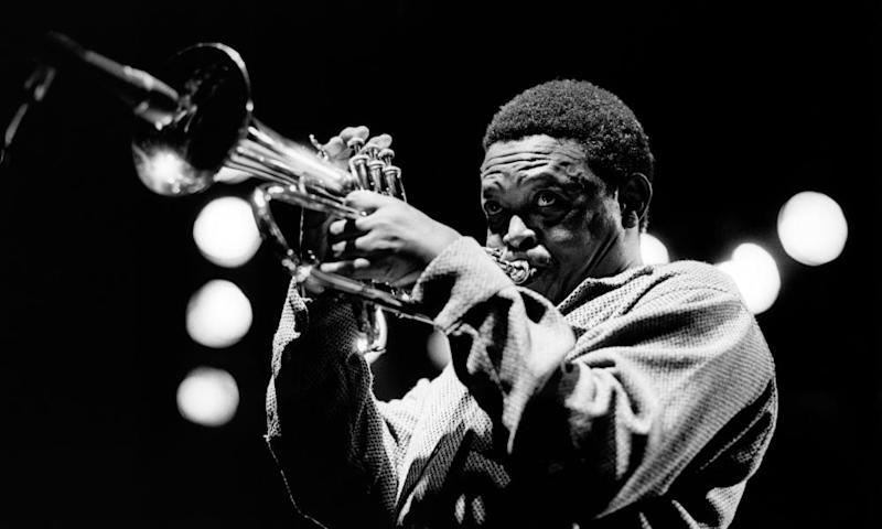 Hugh Masekela on stage in 1980