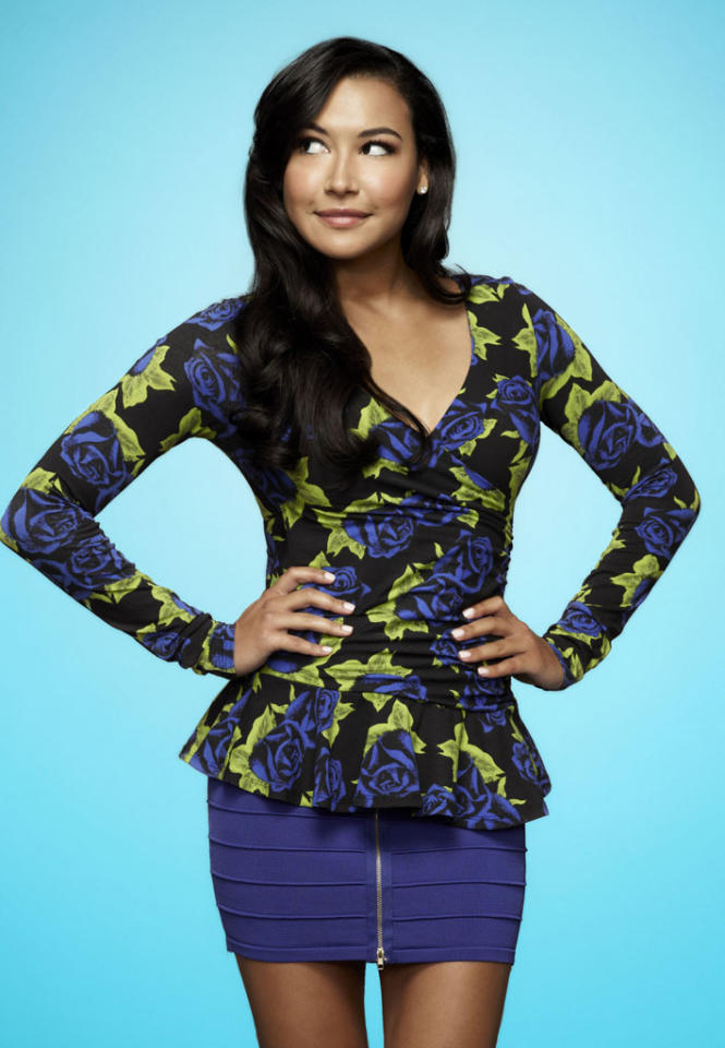 "Naya Rivera as Santana in ""Glee."""