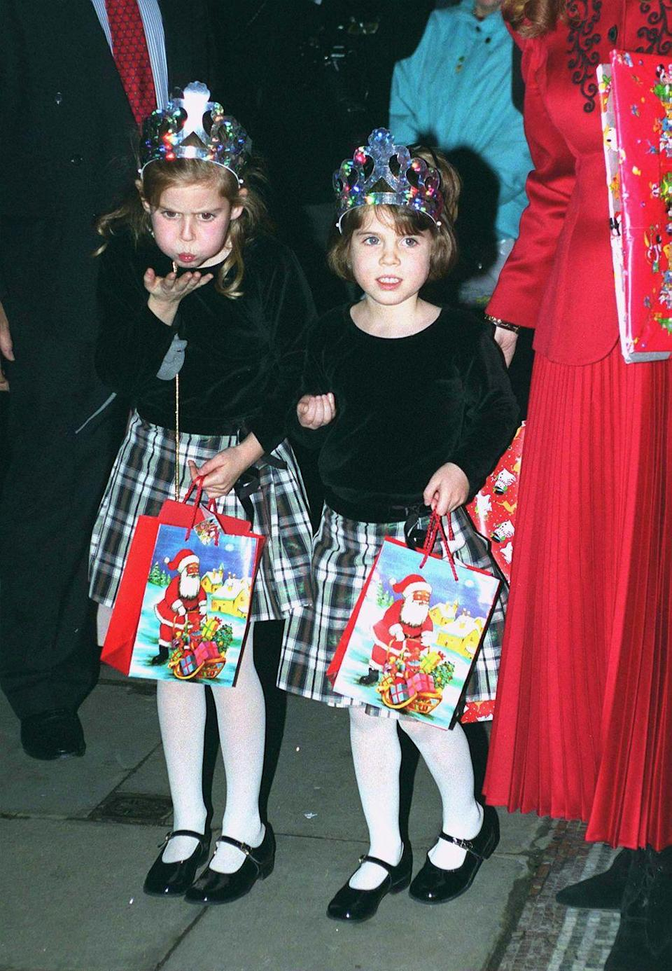 <p>Princess Beatrice and Princess Eugenie attend a Christmas performance of Cinderella.</p>