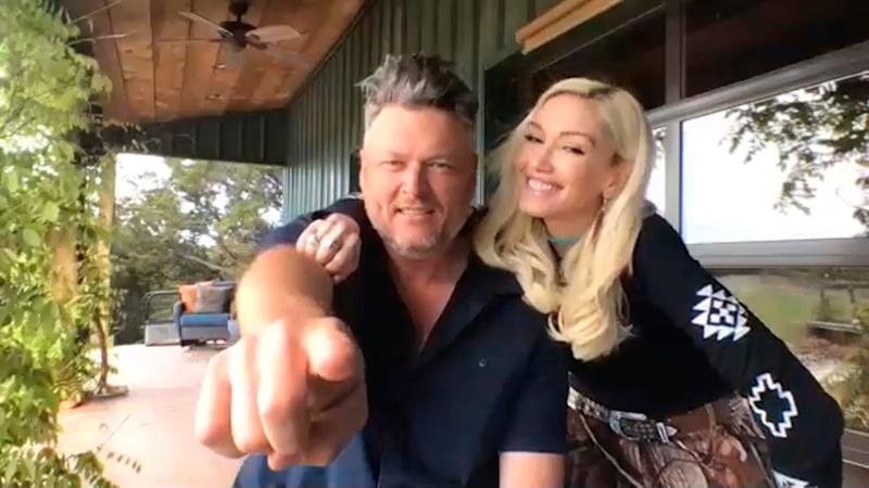"Gwen Stefani and Blake Shelton performed ""Nobody But You"" on the Grand Ole Opry Saturday/"