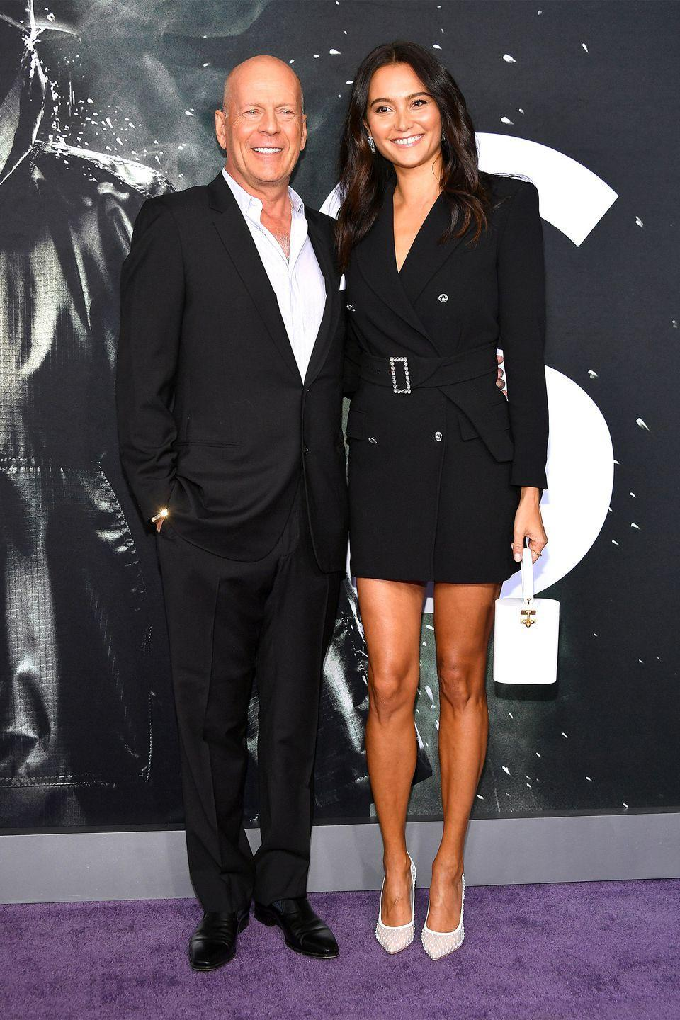 "<p>Married once before (to actress Demi Moore), <em>The Sixth Sense</em> star <a href=""http://www.dailymail.co.uk/tvshowbiz/article-1164038/Bruce-Willis-marries-Demi-double-16-years-younger-Caribbean-ceremony.html"" rel=""nofollow noopener"" target=""_blank"" data-ylk=""slk:married second"" class=""link rapid-noclick-resp"">married second</a> and wife Emma Heming Willis in 2009. The couple now have two daughters together.</p>"