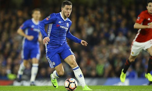 "<span class=""element-image__caption"">Eden Hazard has said he would only leave Chelsea on a high and Real Madrid believe this summer could be their opportunity.</span> <span class=""element-image__credit"">Photograph: Jason Brown/JMP/REX/Shutterstock</span>"