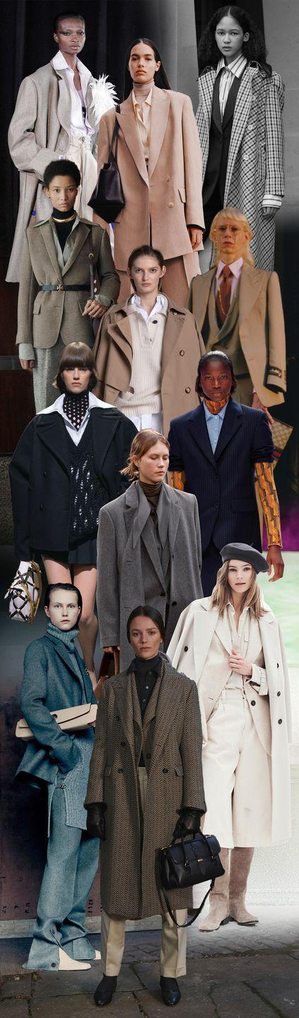 <p>There's no other way to say it: The look in tailoring now is nothing short of smart. Designers aren't going halfway—button-downs are layered under vests, over turtlenecks, under jackets, under long coats, over trousers—and sometimes belted and finished with a tie. These ensembles are paired not with pumps or sneakers, but loafers and boyish shoes. In other words, this isn't about subverting classic pieces; it's a literal take. Tory Burch, The Row, Prada, and Peter Do are leading the charge for ladies who like to layer their loose tailoring—and then layer it some more. </p><p><em>Pictured from top to bottom: Peter Do, The Row, Wales Bonner, Tory Burch, Nehera, Gucci, Valentino, Lemaire, Prada, Giada, Giulvia </em>Heritage, and Brunello Cucinelli. </p>