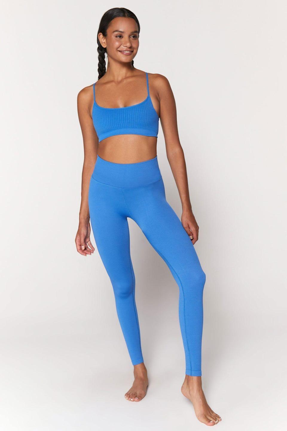 """<p>spiritualgangster.com</p><p><strong>$9800.00</strong></p><p><a href=""""https://spiritualgangster.com/products/sp13677008-blp-love-sculpt-legging"""" rel=""""nofollow noopener"""" target=""""_blank"""" data-ylk=""""slk:Shop Now"""" class=""""link rapid-noclick-resp"""">Shop Now</a></p><p>""""I'm a sets girl, so I want to shout out Spiritual Gangster here again,"""" says Chrust. """"Their leggings are awesomely high-waisted, which feels good to flow in for me."""" This pair feels like butter and is totally seamless, so you'll feel cozy and ready to move.</p>"""