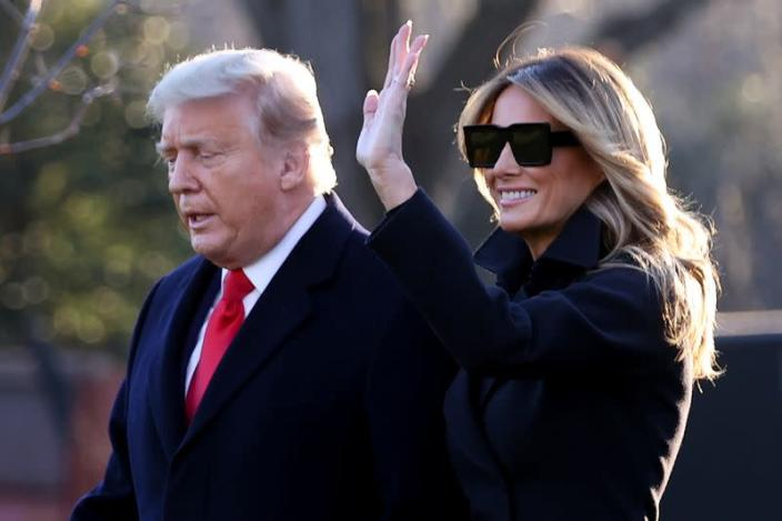 U.S. President Trump and the first lady depart for holiday travel to Florida from the White House in Washington