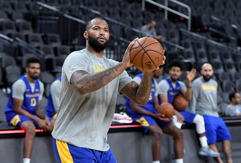 8146d024d907 Report  DeMarcus Cousins could still be months away from returning for  Warriors