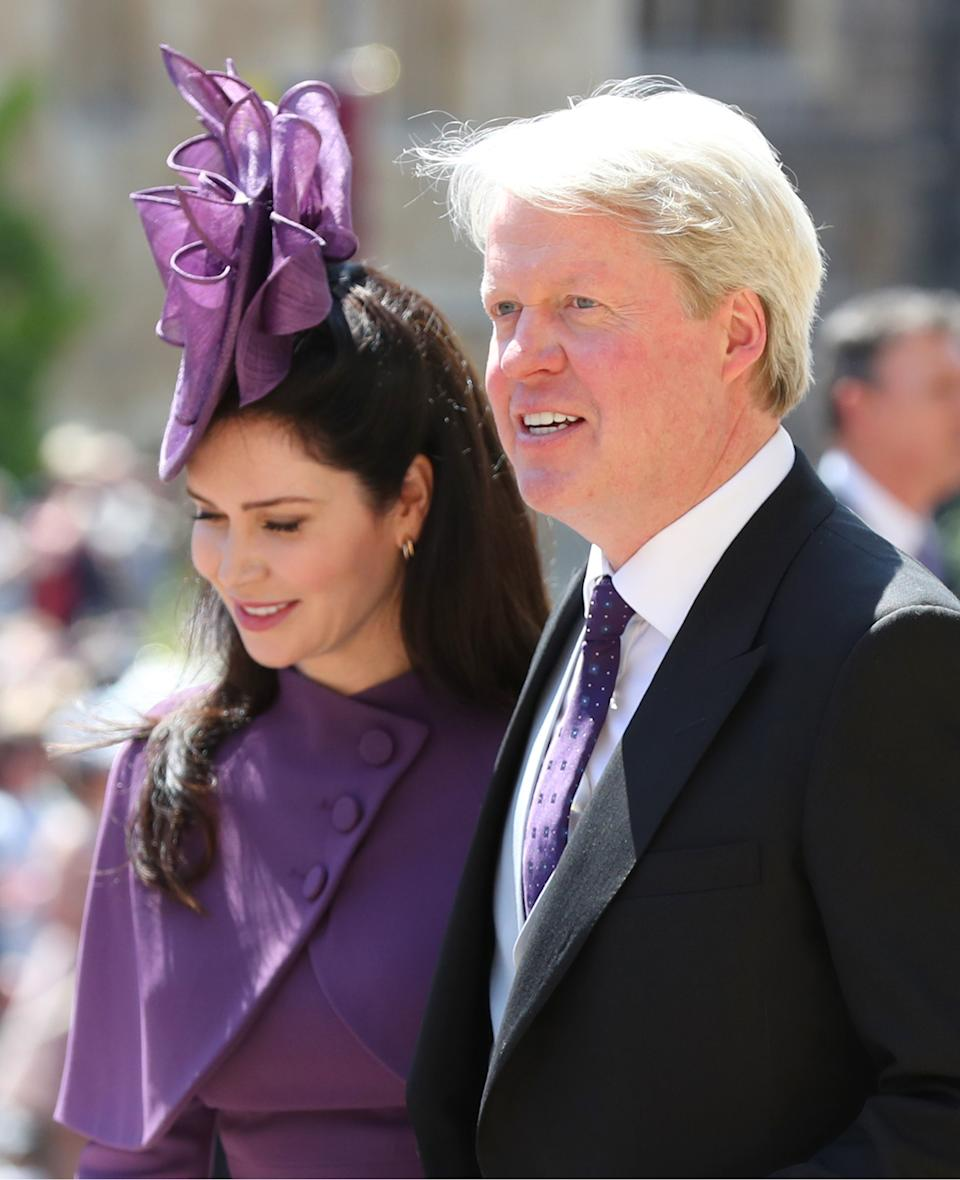 WINDSOR, UNITED KINGDOM - MAY 19:  Earl Spencer and Karen Spencer leave St George's Chapel at Windsor Castle after the wedding of Prince Harry to Meghan Markle on May 19, 2018 in Windsor, England. (Photo by Gareth Fuller - WPA Pool/Getty Images)