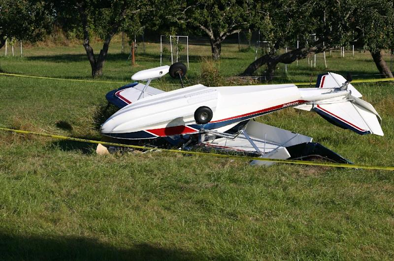 "In this Friday, Aug. 31, 2012 photo provided by the Journal of the San Juan Islands, the plane piloted by author Richard Bach lies overturned after crashing in a field, in Friday Harbor, Wash. Bach, the author of the 1970s best-selling novella ""Jonathan Livingston Seagull"" among other spiritually oriented writings often rooted in themes of flight, was in serious condition Saturday at Harborview Medical Center. (AP Photo/Journal of the San Juan Islands, Steve Wehrly) MANDATORY CREDIT"