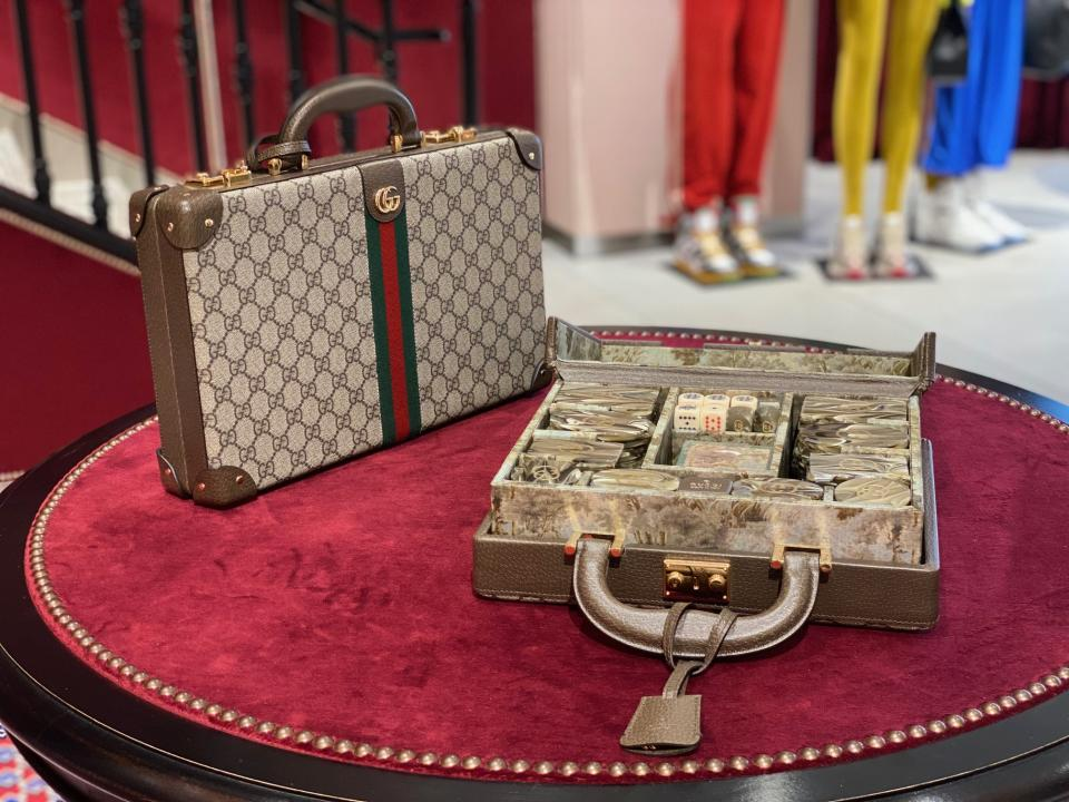 Gucci Lifestyle collection features a poker set housed in a briefcase. (PHOTO: Reta Lee/Yahoo Life SEA)