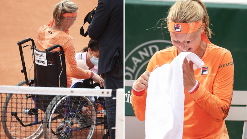Kiki Bertens, pictured here after her win over Sara Errani at the French Open.