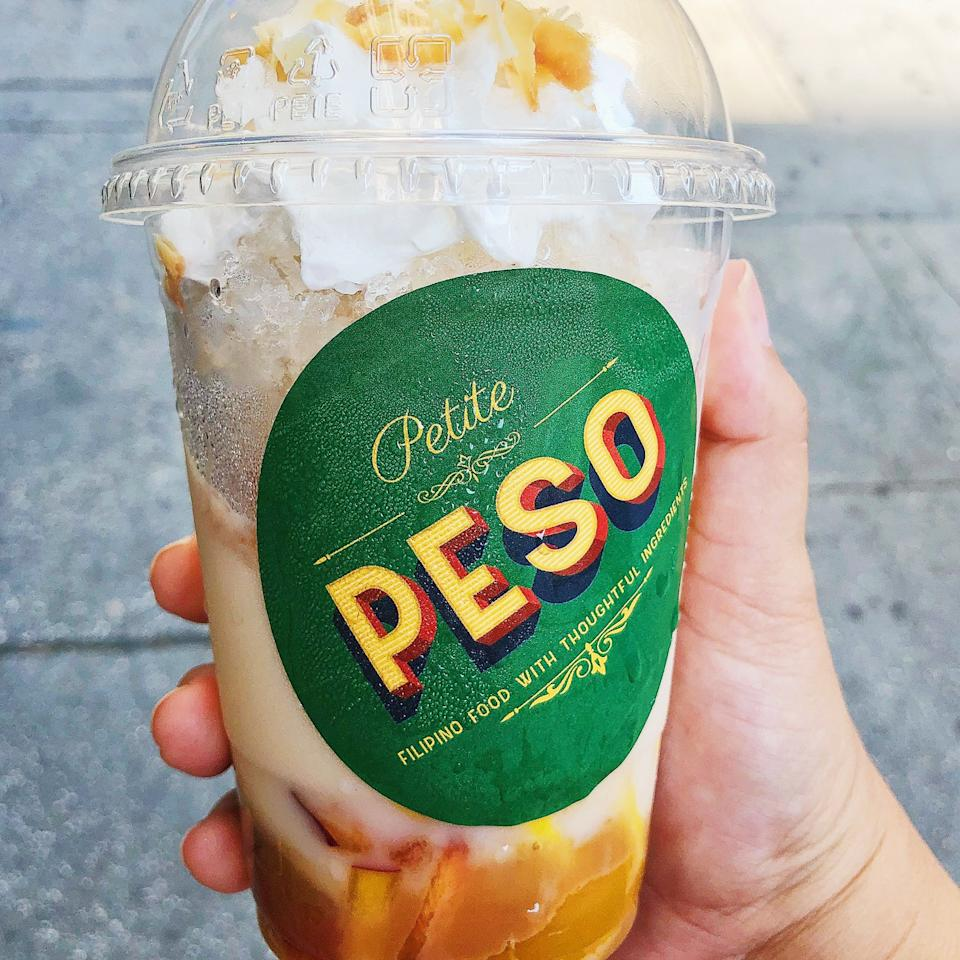 Halo halo to-go from Petite Peso