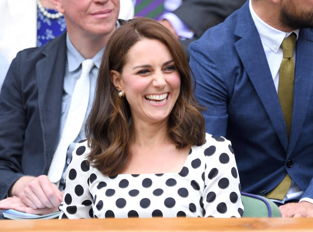 Kate Middleton showed off a new shorter hairstyle in July. (Photo by Karwai Tang/WireImage)
