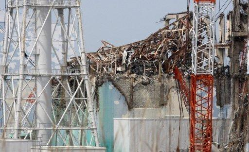 The No. 3 reactor building at the stricken Fukushima nuclear power plant