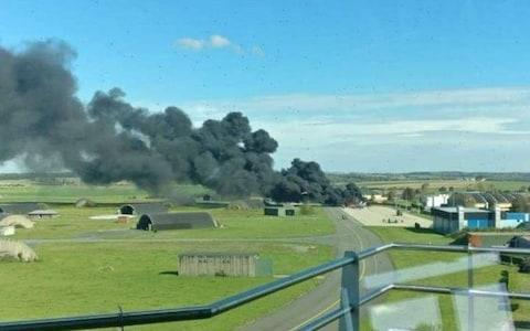 <span>The smoke from the incident could be seen from afar</span>
