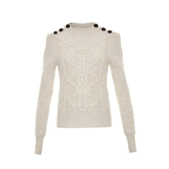 Dustin Cable-Knit Sweater, Isabel Marant $765