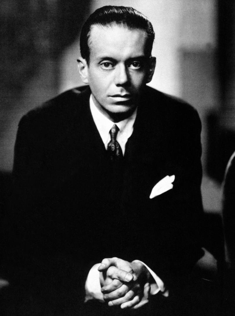 """This circa 1910 file photo shows American songwriter Cole Porter. A few lucky people will get to hear what no one in America has - a collection of lost Cole Porter songs.  The one-night-only June 27, 2014 premiere of """"The Ambassador Revue"""" at The Town Hall near Times Square will mark the first time the 1929 show has ever been staged outside Paris. (AP Photo, file)"""