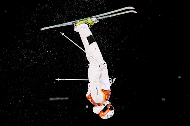 <p>James Matheson of Australia celebrates in the Freestyle Skiing Men's Moguls Qualification on day three of the PyeongChang 2018 Winter Olympic Games at Phoenix Snow Park on February 12, 2018 in Pyeongchang-gun, South Korea. (Photo by Cameron Spencer/Getty Images) </p>