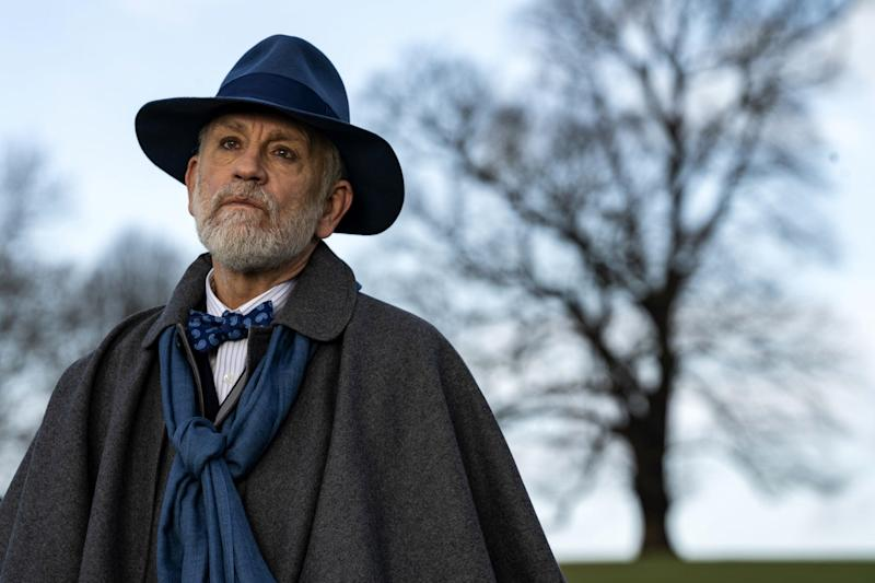 New role: Malkovich plays a British priest haunted by past tragedy